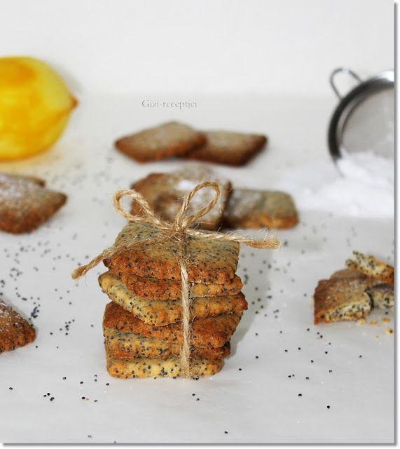 Gizi-receptjei.  Várok mindenkit.: Omlós mákos-marcipános keksz.