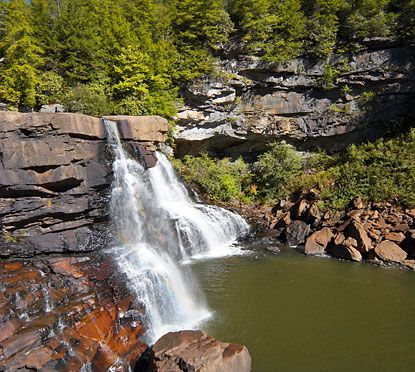 WV State Parks  Cabins interiors | ... west virginia lies blackwater state falls park a natural gem in its