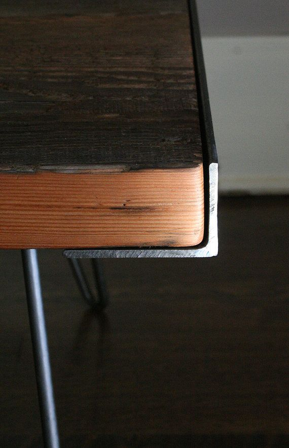 between table, from reclaimed old growth wood and recycled steel on Etsy, $400.00