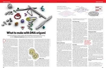 Bioengineering: What to make with DNA origami