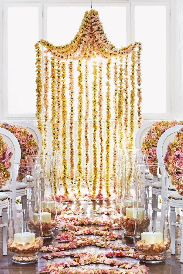 ceremony structure floral canopy. could be made of vines and herbs or all blooms or both!