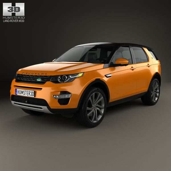 Land Rover Discovery Sport HSE Luxury 2015 3d model from humster3d.com. Price: $75