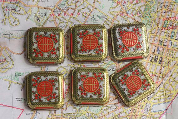 Tea Tin Lid Fridge Magnet Set