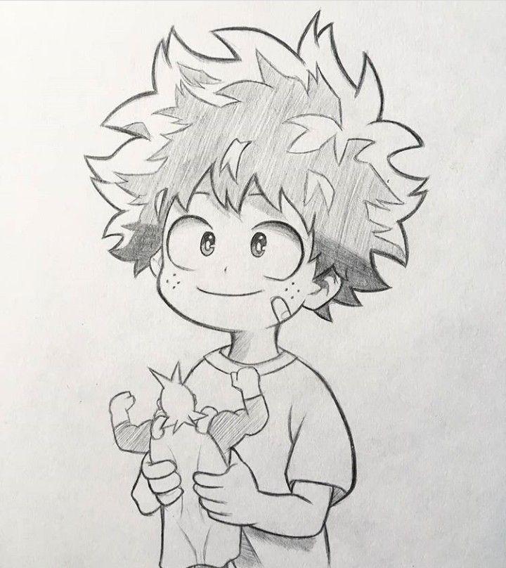 Midoriya Izuku Anime Character Drawing Anime Drawings Sketches Anime Sketch
