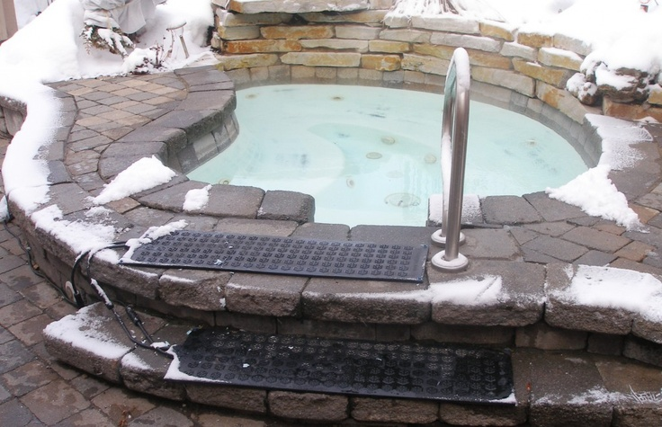 Snow Melting Mats, Never Shovel Again! (or get cold feet)