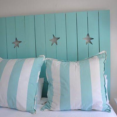 Stars of the Sea Shutter Headboard by Jane Coslick.
