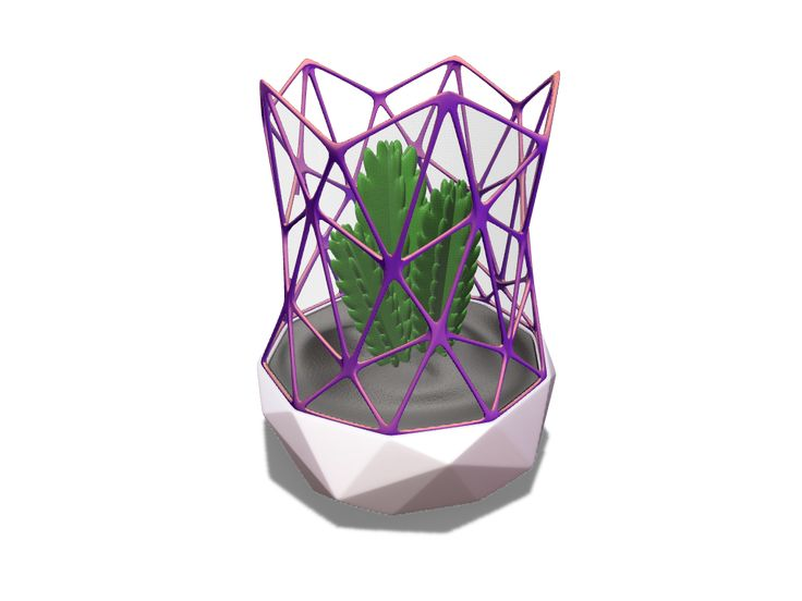 Mini interior greenhouse - a 3D model created with VECTARY - the free online 3D modeling tool #3Dprinting