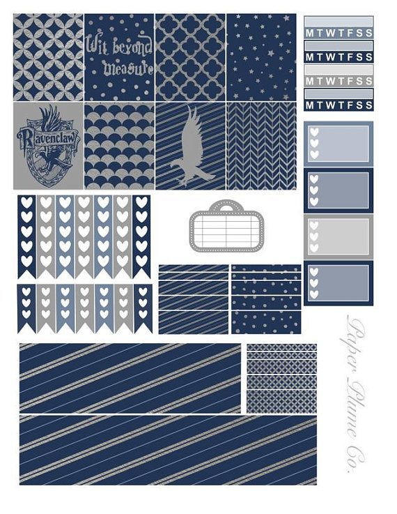 Printable Harry Potter Ravenclaw Planner Stickers by PaperPlumeCo