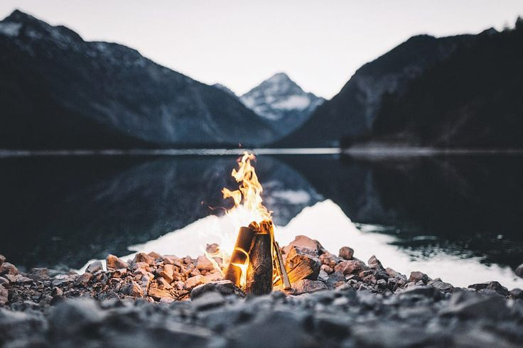 Campfire at the lake. by Johannes Hulsch on 500px