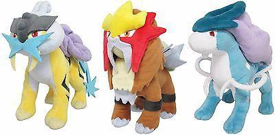 Pok mon 1524: Japanese Pokemon Set Of 3 Raikou Entei Suicune Plush 9 Toys Ships From Usa! -> BUY IT NOW ONLY: $129.99 on eBay!