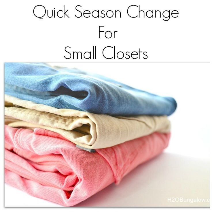 Change of season tips for small closets. I used a simple method, kept organized and changed out my closet in a hour! It's easy and I'll show you how.