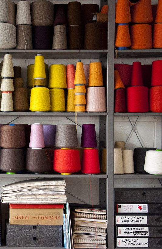 ELEANOR PRITCHARD's studio. Pritchard is a London based textile artist. #makers #workspace #adelineloves