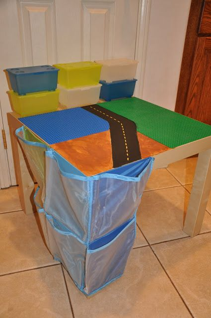 Custom Lego Table With Side Pocket Storage   IKEA Hackers