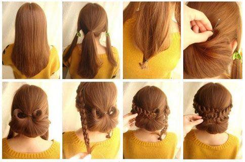Brautfrisuren lange Haare geflochten - selber machen - Bilder