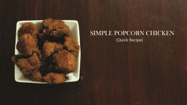 Simple Popcorn Chicken Recipe  Indian Style Popcorn Chicken  Try Curry