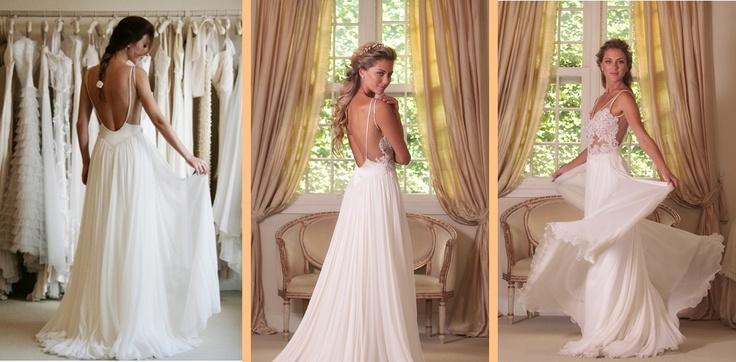 Backless wedding dresses wanda borges