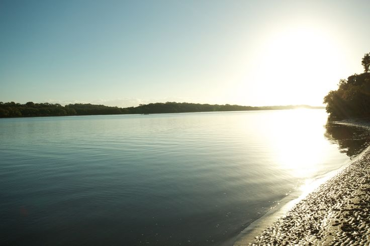 The beautiful Maroochy river @ Sunrise, Right opposite our park!