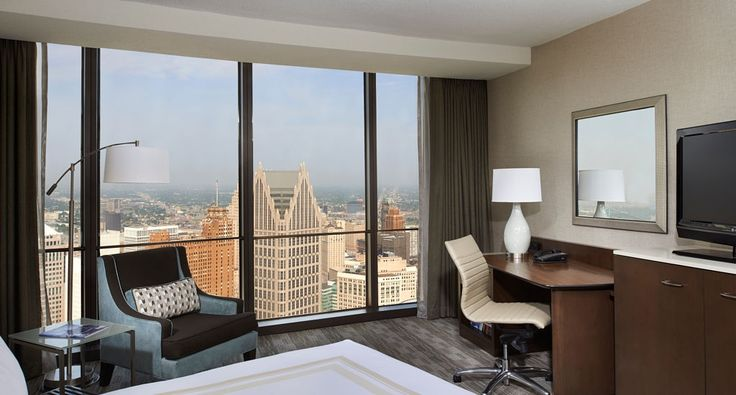 Explore a Detroit, Michigan hotel that is located in the heart of downtown Detroit. This Detroit Riverwalk hotel is situated in the aesthetically pleasing Renaissance Center
