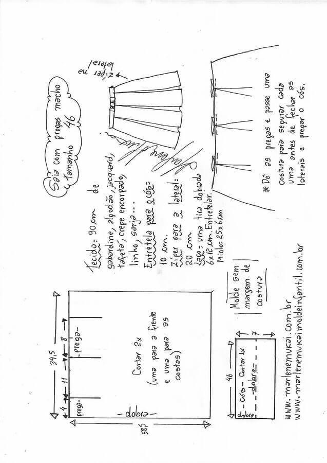 Pin de Patricia L.B en Faldas - Costura DIY | Pinterest | Sewing ...