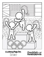 your childs name is on the gold medalist on our free coloring page for the olympics