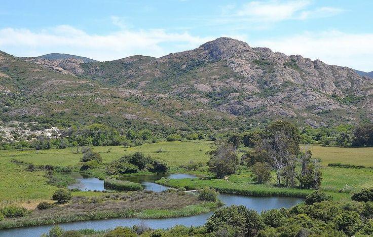 Corsica - Fleuves et Rivières -  L'Ostriconi est fleuve de la Haute-Corse qui se jette dans la mer Méditerranée.L'Ostriconi prend naissance sur les pentes du Monte Reghia di Pozzo (1 469 m), à l'altitude 1 050 m, sur la commune de Pietralba, entre le ravin de Branca et ruisseau de Sossa (son premier ruisseau affluent), en limite orientale de la Balagne.