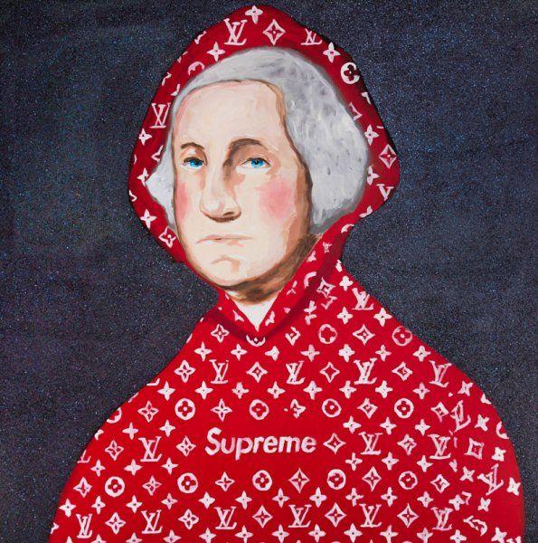 George Washington In Supreme By Sarah Ashley Longshore Washington Art Ashley Longshore Art Art Inspo