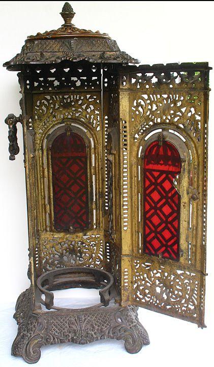 Antique Victorian Cast Iron Parlor Stove Patent #284618.