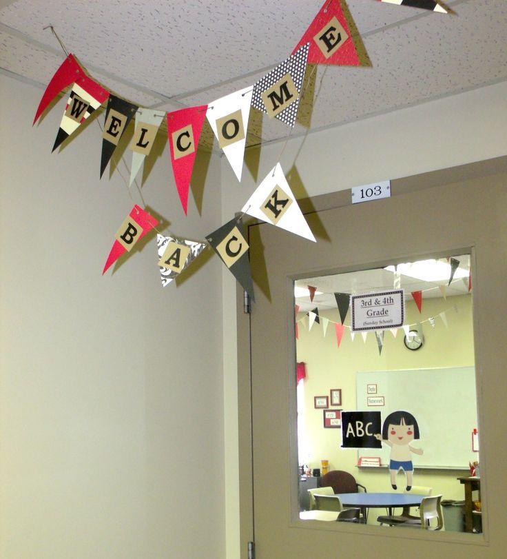 Classroom Banner Ideas ~ Best welcome back banner ideas on pinterest school