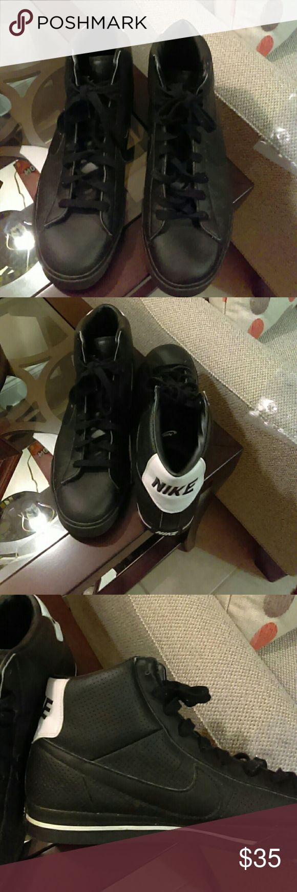 Nike Mid Top Sneaker Very good condition durable synthetic upper Nike Shoes Athletic Shoes