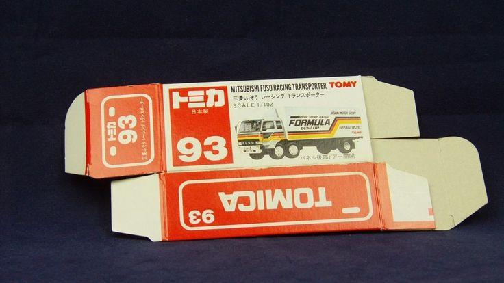 TOMICA 093B FUSO RACING TRANSPORT | 1/102 | ORIGINAL BOX ONLY | 1989 -1993 JAPAN