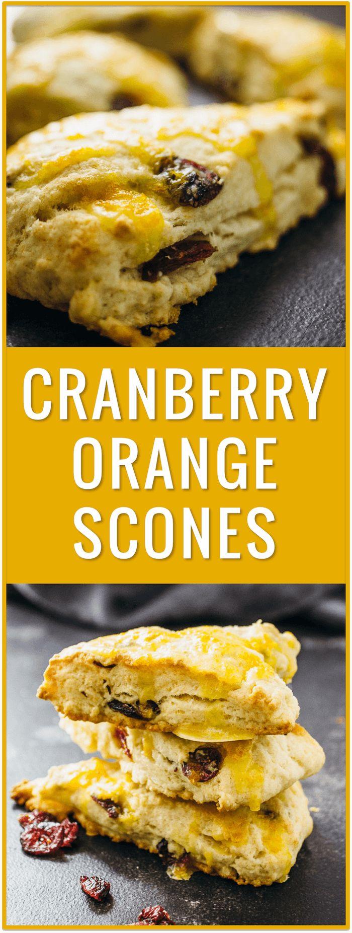 best cranberry orange scones, healthy, fresh fruit, baked, orange zest, orange glaze, thanksgiving, christmas, breakfast, brunch, morning, pastry, dessert via @savory_tooth