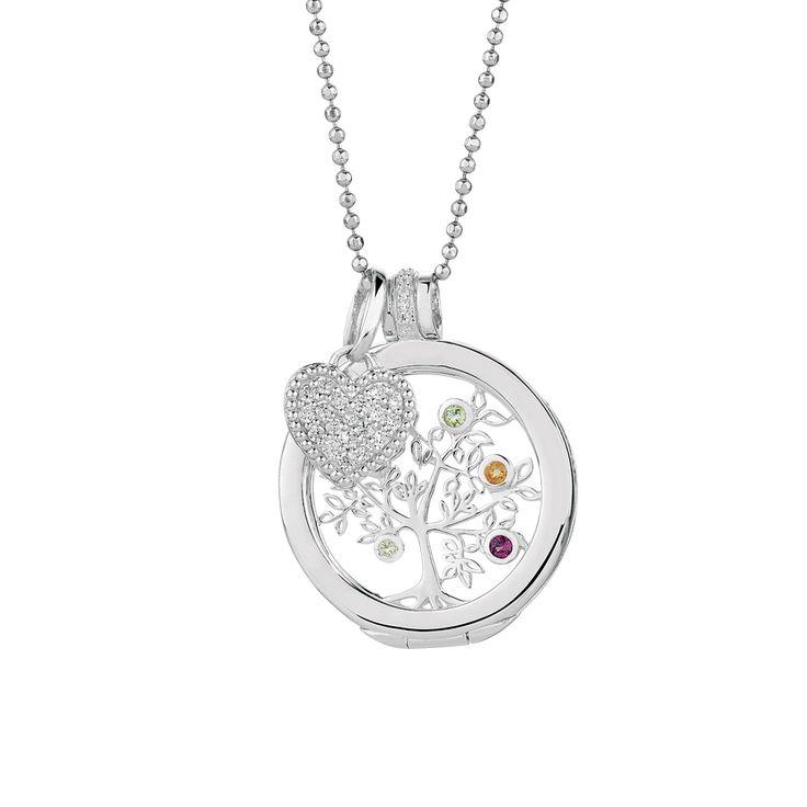 Multistone, cubic zirconia & sterling silver interchangeable pendant with case & mini pendant. #elysiancollection #emmaandroe #jewelry #jewellery #pendants #interchangeable