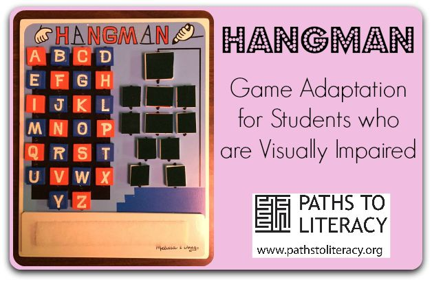 Adapt the game of Hangman for braille readers