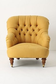 Anthropologie chair. i {heart} mustard yellow! Would look amazing in our bedroom! #Anthropologie #PinToWin
