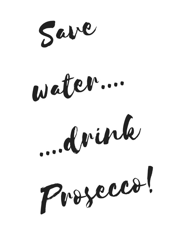 Save water...drink prosecco! A good motto to live by! #prosecco #fizz #mobilebar #fizzyfilly