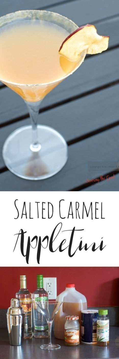 I wanted to share with you this delicious salted caramel appletini recipe. If you hadn't tried salted caramel you HAVE to try it.The salt adds another layer and depth of flavor to caramel that is to DIE for! This is the perfect fall cocktail that can be e