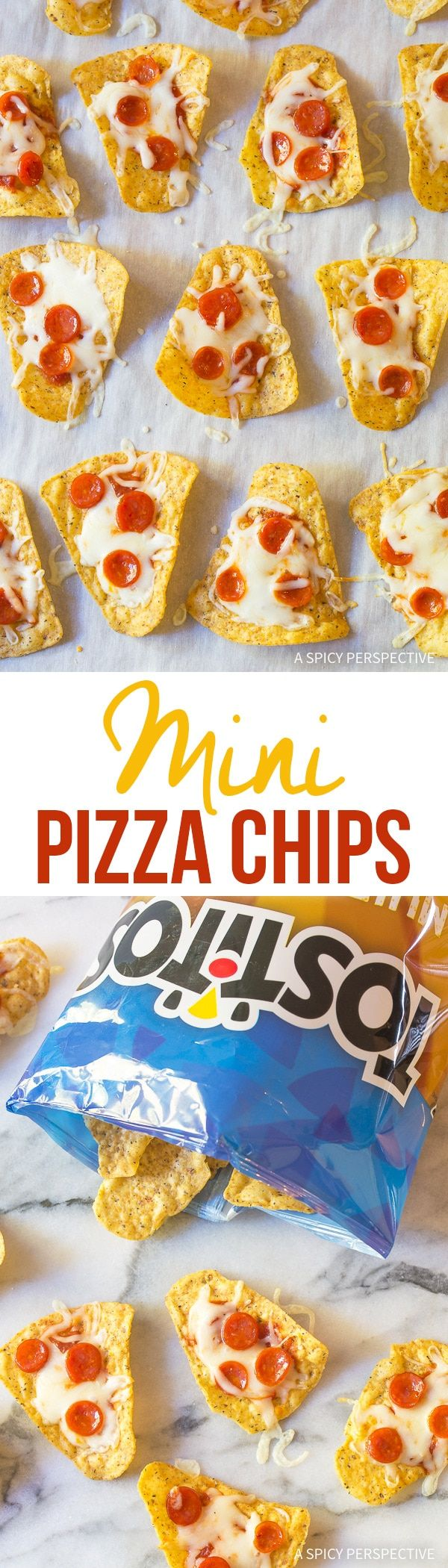 No one can resist pizza, right? Serve our 4-Ingredient Mini Pizza Chips at all your holiday parties this year! Made with @FritoLay Multigrain Tostitos! #mingleinabox #ad