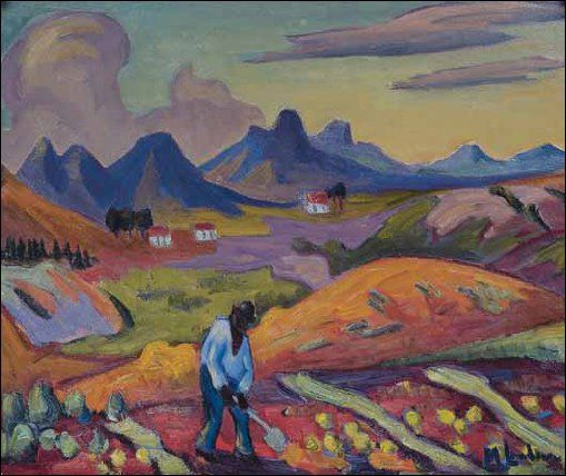 """Harvesting the Crop"" Maggie Laubser"