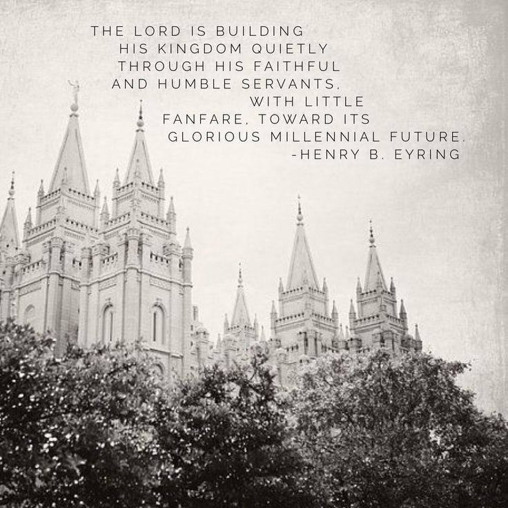 The Lord is building His kingdom quietly through His faithful and humble servants, with little fanfare, toward its glorious millennial future. #lds #mormon #eyring