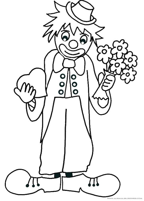 the sad clown coloring page