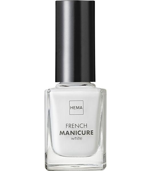 french manicure - HEMA // verzorgde en natuurlijke witte uitstraling