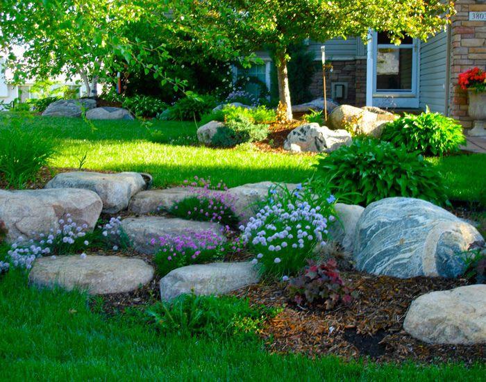 Naturalistic stone croppings alpine rock gardens for Garden rockery designs