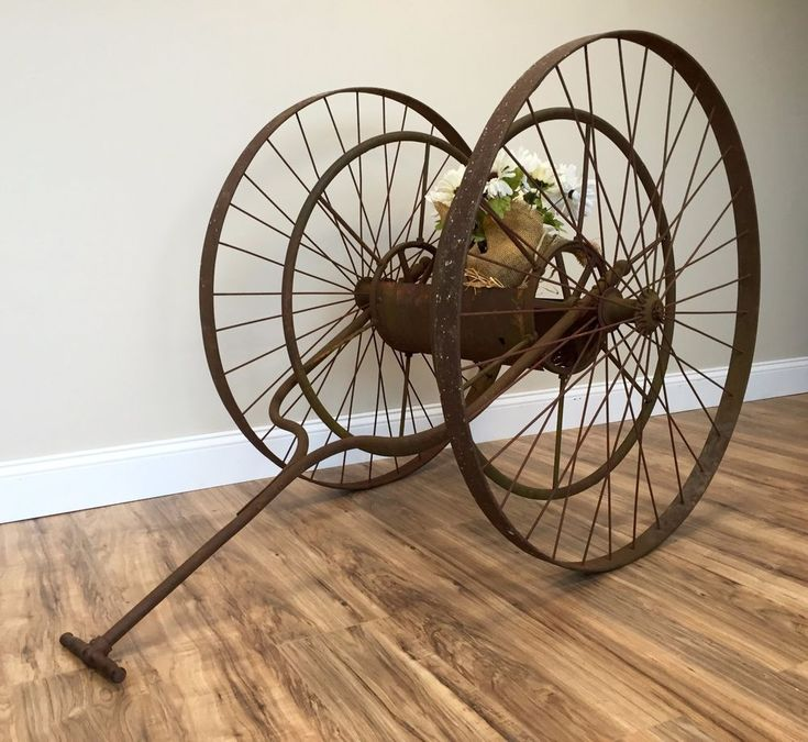 Vintage Industrial, Fire Hose Reel, Fire Equipment, Antique Metal, Museum Piece