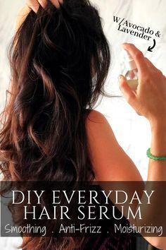 DIY The Best Hair Growth Serum Spray w/ Avocado and Lavender Essential Oils