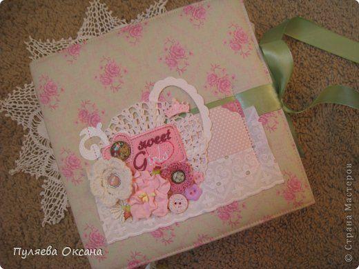 Скрапбукинг Картонаж Фотоальбом для новорожденной девочки и блокнотик Бумага фото 1