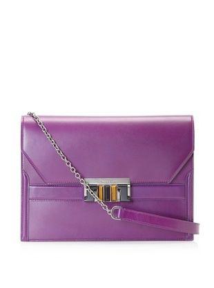 Oscar de la Renta Women's Flat Shoulder Bag, Amethyst