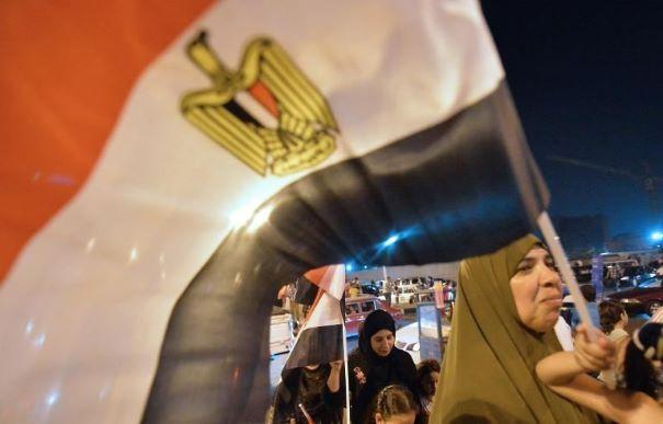 Les partisans de l'ex-chef de l'armée égyptienne Abdel Fattah al-Sissi célèbrent sa victoire dans les rues du Caire le 28 mai 2014