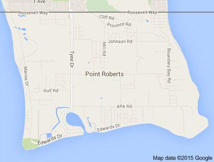 Map of point roberts washington usa zip code