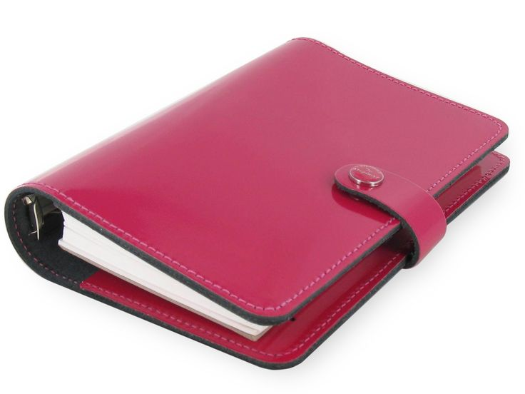 Amazon.com : Filofax The Original Leather Personal Patent Fuchsia Organizer Agenda Diary Calendar 022432 with Free Jot Pad refill : Office Products