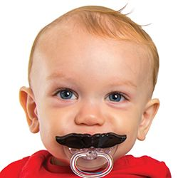 """""""If you mustache, I'm one"""" Fred's Chill Baby Mustache pacifier is a fun, cute way to comfort your little one! Chill Baby pacifiers are PVC-free and BPH-free and meet all child safety standards.Get it!: http://www.mastermindtoys.com/Fred-Chill-Baby-Mustache-Pacifier.aspx"""